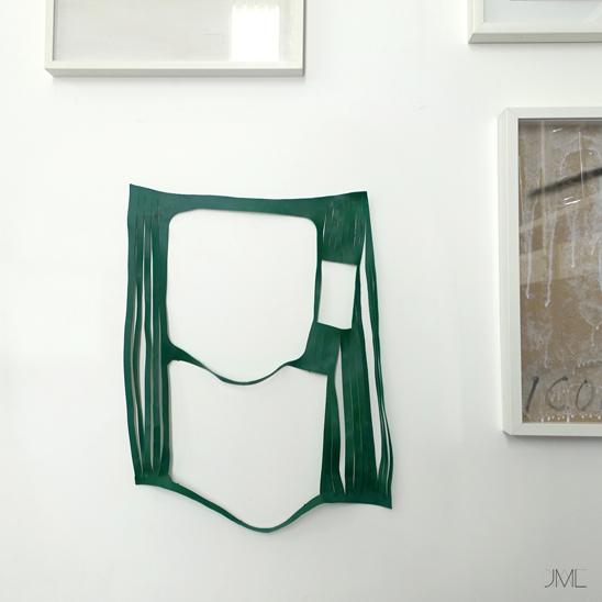 Green abstract skin, Lacération de cuir vert, Structure de cuir vert