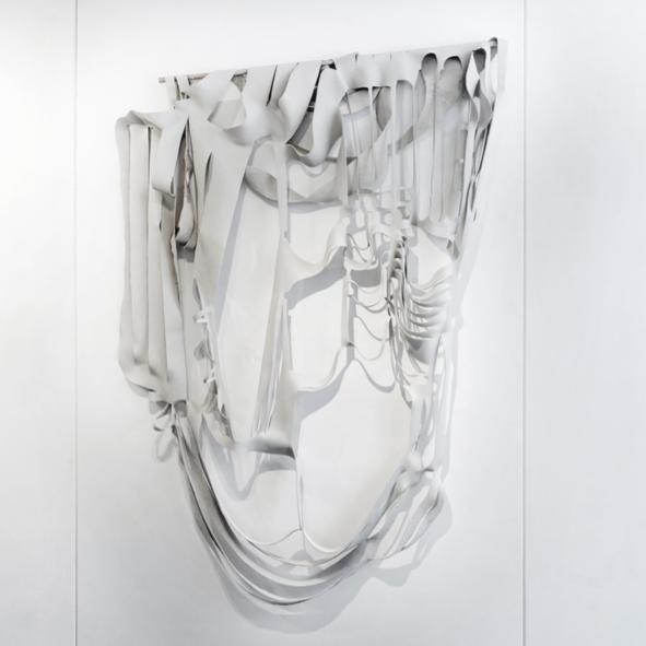 Tribute to Mrs SIMONE MORRIS. R 09, Abstract White CREAM. Dim. 180x140 cm